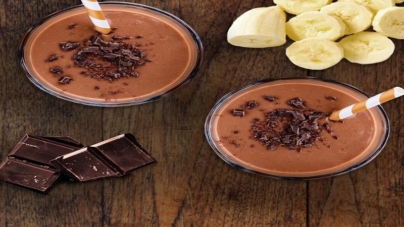 اسموتی شکلاتی برای افزایش وزن و حجم عضله ها